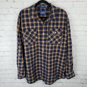 Burnside Pendleton plaid flannel long sleeve shirt